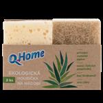 Q-Home Ekologická houbička na nádobí 2ks