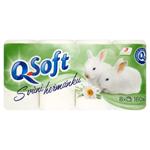 Q-Soft Toaletní papír s vůní heřmánku 3 vrstvý 8 ks