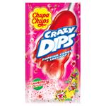 Chupa Chups Crazy Dips lízátko s jahodovou příchutí s praskajicím práškem 14g