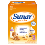 Sunar Complex 3 vanilla mléčná výživa pro malé děti v prášku od ukončeného 12. měsíce 2x 300g (600g)