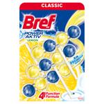 Bref Power Aktiv Lemon tuhý WC blok 3 x 50g