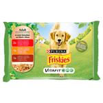 FRISKIES® PES VitaFit výběr s hovězím, kuřetem a jehněčím ve šťávě 4 x 100g