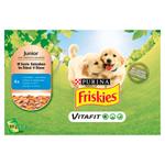FRISKIES® JUNIOR výběr s kuřetem a mrkví ve šťávě 4 x 100g