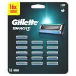 Gillette Mach3 Pánské Náhradní Holicí Hlavice 16 ks