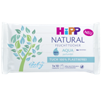 HiPP Babysanft Čistící vlhčené ubrousky Natural Aqua 10 ks