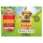 FRISKIES® PES VitaFit výběr s hovězím, kuřetem a jehněčím ve šťávě 12 x 100g