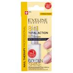 Eveline Cosmetics Nail Therapy Professional Total 8v1 nehtový kondicionér se zlatými třpytkami 12ml