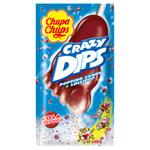 Chupa Chups Crazy Dips Drops s kolovou příchutí s praskajicím práškem 14g