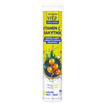 MaxiVita Exclusive Vitamin C + rakytník s příchutí citronu 20 šumivých tablet 80g