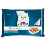 GOURMET Perle Gravy Delight Multipack s lososem a s tuňákem v ochucených omáčkách 4 x 85g