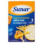Sunar Krupicová medová mléčná kaše na dobrou noc 225g