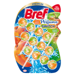 Bref Perfume Switch Peach and Red Apple tuhý WC blok 3 x 50g