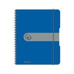 Spir.blok A5/80listů, čtvereček, modrý