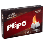 PE-PO Pevný podpalovač - krabička 40 podpalů