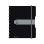 Spir.blok A5/80listů, čtvereček, černý
