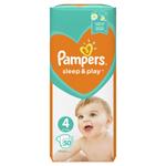Pampers Sleep & Play V4, 50 Plenek, 9–14 kg, Důvěrný Pocit Sucha