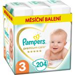Pampers Premium Care, Velikost 3, Plenka 204x, 6kg - 10kg