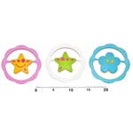 Chrastítko - kruh s hvězdičkou, kytičkou