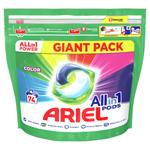 Ariel All-In-1 PODs Colour Kapsle Na Praní, 74 Praní