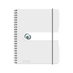 Spir.blok A5/80listů, čtv., transp.,čirý