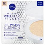 Nivea Hyaluron Cellular Filler Cushion Pečující tónovací krém v houbičce 3 v 1 02 střední odstín 15g