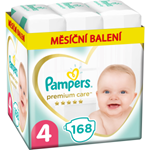 Pampers Premium Care, Velikost 4, Plenka 168x, 9kg-14kg