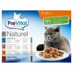 PreVital Naturel Kompletní krmivo pro dospělé kočky 12 x 85g
