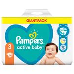 Pampers Active Baby Plenky Velikost 3 X90, 6kg-10kg