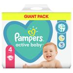 Pampers Active Baby Plenky Velikost 4 X76, 9kg-14kg