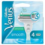 Gillette Venus Sensitive Smooth Náhradní Holicí Hlavice 4x