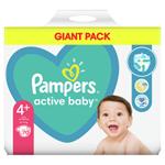 Pampers Active Baby Plenky Velikost 4+ X70, 10kg-15kg