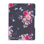 Sešit flex A6,40 čtv,PP,Ladylike květy