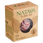 Natava Bio Aromatherapy olejová koule do koupele Rose 50g