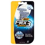 Bic Flex 3 Classic Holicí strojek se 3 břity 3 ks
