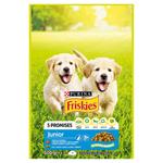 Friskies® Junior s kuřetem a zeleninou s mlékem 500g