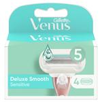 Gillette Venus Deluxe Smooth Sensitive Holicí Hlavice x4