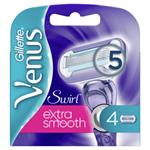 Gillette Venus Swirl Extra Smooth Náhradní Holicí Hlavice 4x