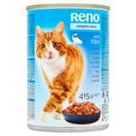 Reno Kompletní krmivo pro dospělé kočky kousky s rybou v omáčce 415g
