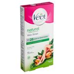 Veet Natural Inspirations Voskové pásky s obsahem přírodního arganového oleje a ubrousky 12 ks