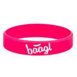 BAAGL Svítící náramek Logo růžový