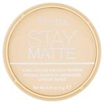 Rimmel London Stay Matte Pudr 001 Transparent 14g