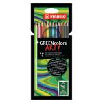 STABILO GREENcolors pastelky 12 ks pouzdro ARTY