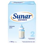 Sunar Standard 2 pokračovací mléčná kojenecká výživa v prášku od ukončeného 6. měsíce 2x 250g (500g)