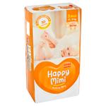 Happy Mimi Active Dry Dětské plenky 3 midi 4 - 9kg 50 ks