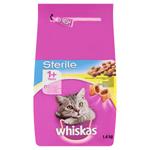 Whiskas Sterile chutné plněné granule s kuřecím masem 1,4kg