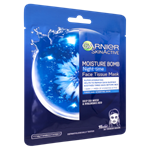 Garnier Skin Active noční textilní pleťová maska Moisture Bomb, 1 ks