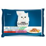GOURMET Perle Multipack - mini filetky ve šťávě se zeleninou 4 x 85g