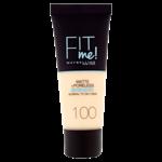 Maybelline Fit Me Matte + Poreless Make-Up 100 Warm Ivory