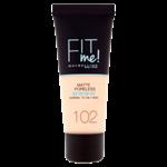 Maybelline Fit Me Matte + Poreless Make-Up 102 Fair Ivory