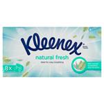 Kleenex Natural Fresh papírové kapesníky 4-vrstvé 8 x 9 ks